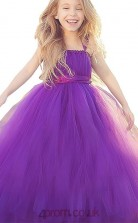 Rengency Tulle Straps Sleeveless Floor-length Princess Children's Prom Dress (FGD274)