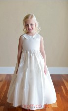 Ivory Taffeta Jewel Sleeveless Ankle-length A-line Children's Prom Dress (FGD283)