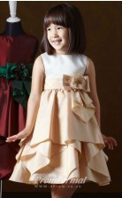 Cute A-line Short/Mini Champange Flower Girls Dresses FGD422