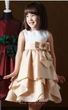 Cute A-line Short/Mini Champange Flower Girls Dresses FGD422