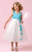 Cute Princess Ankle-length Pool Flower Girls Dresses FGD427