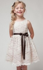 Cute A-line Short/Mini Champange Flower Girls Dresses FGD434