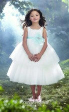 New Style Princess Ankle-length White Flower Girls Dresses FGD443