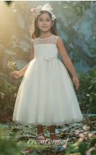 New Style Princess Ankle-length White Flower Girls Dresses FGD448