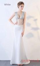 Evening Illusion Crystal V-neck Clubwear Dress Auto Salon Girls BX-G831