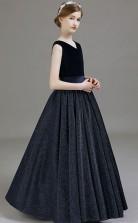 V Neck Kids Formal Dress Junior Prom Dress JFGD030