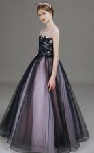 Black and White Tulle Child Formal Dress Flower Girl Dress JFGD033