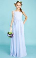 Simple Lavender Child Bridesmaid Dress Flower Girl Dress JFGD042
