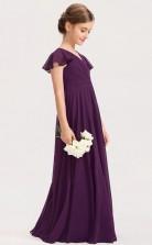 Grape Child Bridesmaid Dress Flower Girl Dress JFGD045