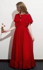 Half Sleeved Chiffon Child Bridesmaid Dress Flower Girl Dress JFGD050