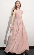 Simple Pink Straps Junior Bridesmaid Dress Girls Birthday Party Dress JFGD067