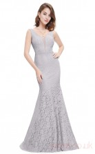 Mermaid V-neck Long Silver Lace Prom Dresses(PRJT04-1908-D)