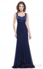 Mermaid Straps Long Royal Blue Chiffon Prom Dresses(PRJT04-1949)