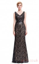 Mermaid V-neck Long Black Lace Prom Dresses(PRJT04-1988)