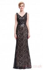Mermaid V-neck Long Black Lace Prom Dresses(PRJT04-1988)