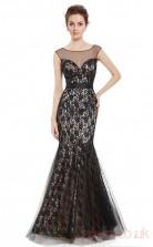 Mermaid Illusion Long Black Lace Prom Dresses(PRJT04-1997)