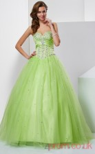 Pale Green Tulle Sweetheart Floor-length Ball Gown Quincenera Dress(JT2005)