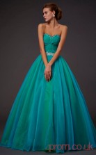 Multipatterned Organza Sweetheart Floor-length Princess Quincenera Dress(JT2007)