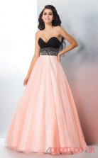 Pink Tulle Sweetheart Floor-length A-line Quincenera Dress(JT2015)