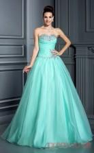 Pale Turquoise 30D Chiffon Sweetheart Floor-length Princess Quincenera Dress(JT2027)