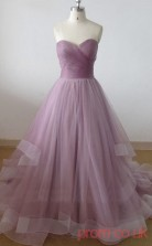 Medium Purple Tulle Sweetheart Floor-length Princess Quincenera Dress(JT2042)