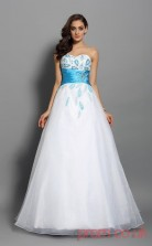 White Organza Sweetheart Floor-length Princess Quincenera Dress(JT2043)