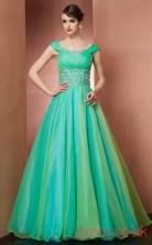 Multipatterned Organza Off The Shoulder Floor-length A-line Quincenera Dress(JT2052)