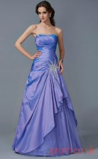 Lavender Taffeta Strapless Floor-length Princess Quincenera Dress(JT2056)