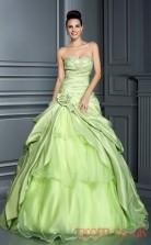 Pale geen Taffeta Organza Sweetheart Floor-length Princess Quincenera Dress(JT2079)