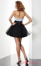 Black Tulle A-line Short Sweetheart Graduation Dress(JT2087)