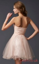 Pearl Pink Tulle A-line Short Sweetheart Graduation Dress(JT2122)