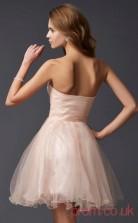 Pearl Pink Tulle A-line Short Sweetheart Graduation Dress(JT2122)