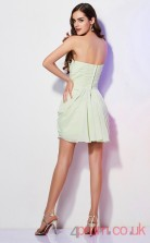 Light Sage Chiffon Sheath Short Sweetheart Graduation Dress(JT2134)
