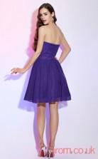 Regency Chiffon A-line Short Sweetheart Graduation Dress(JT2185)