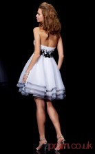 White Organza A-line Short Sweetheart Graduation Dress(JT2202)