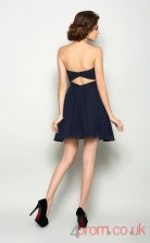 Navy Blue Tulle A-line Short Sweetheart Graduation Dress(JT2212)