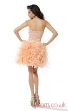 Pink Tulle A-line Short Sweetheart Graduation Dress(JT2214)