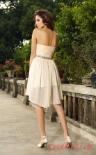 Beige Tulle A-line Short Sweetheart Graduation Dress(JT2218)