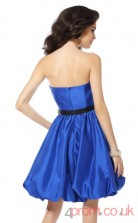 Blue Stretch Satin A-line Mini Sweetheart Graduation Dress(JT2280)