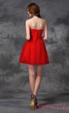 Red Tulle A-line Mini Sweetheart Graduation Dress(JT2352)