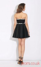 Black Satin A-line Mini Sweetheart Graduation Dress(JT2396)