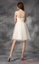 Ivory Tulle A-line Mini Sweetheart Graduation Dress(JT2411)