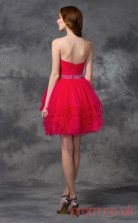 Fuchisa Tulle A-line Mini Sweetheart Graduation Dress(JT2413)
