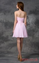 Blushing Pink Chiffon A-line Mini Sweetheart Graduation Dress(JT2430)