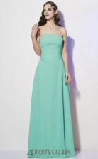 Sage Chiffon A-line Strapless Floor-length Formal Prom Dress(JT2463)