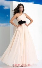 Pearl Pink Chiffon One Shoulder Floor-length A-line Wedding Formal Dress(JT2503)