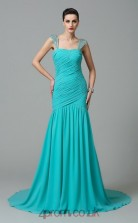 Jade Chiffon Straps Floor-length Mermaid Wedding Formal Dress(JT2512)