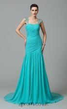 Jade Chiffon Straps Floor-length Mermaid Wedding Formal Dress(JT2512)