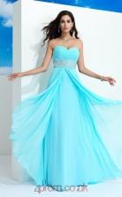 Pool Chiffon Sweetheart Floor-length A-line Wedding Formal Dress(JT2530)