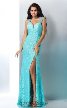Side Split Jade Lace Sweetheart Floor-length Mermaid Prom Dress(JT2532)